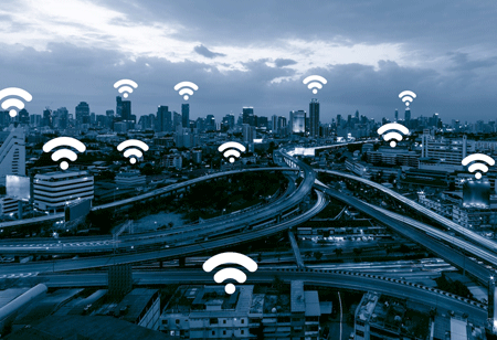 Communication Technology Infrastructure that Delivers Secure Wireless Network capabilities to Smart Cities